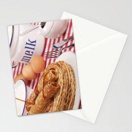 II - Dutch pancakes with syrup or 'pannenkoeken met stroop' Stationery Cards