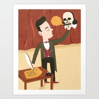shakespeare Art Prints featuring Shakespeare by Patrick O'Leary