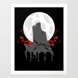 Howl at the Moon (Awoo) Art Print