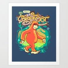 Big Foot Art Print