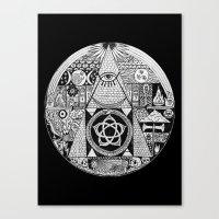 illuminati Canvas Prints featuring Illuminati by SAMMO