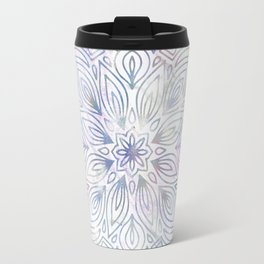 Marble Mandala - Purple Blue Rose Gold Travel Mug
