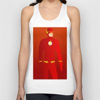the flash Tank Tops featuring Flash by pablosiano