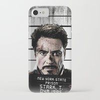 tony stark iPhone & iPod Cases featuring Tony Stark jailed by MkY111