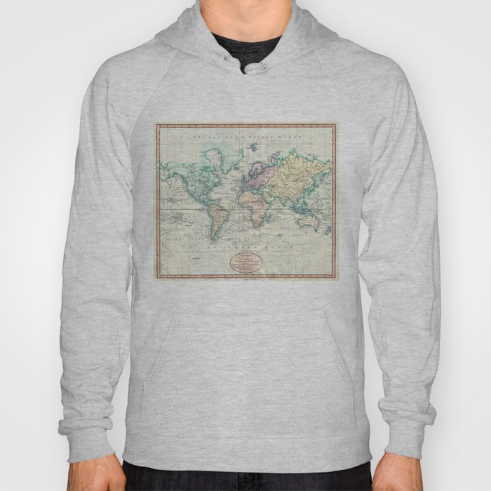 Vintage map of the world 1801 hoody by bravuramedia society6 gumiabroncs Image collections