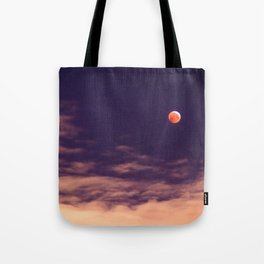 The blood moon eclipse Tote Bag