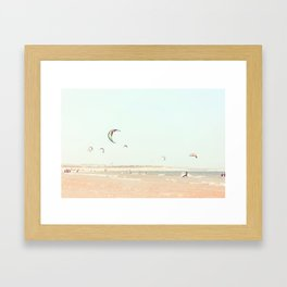 kitesurfing fun Framed Art Print