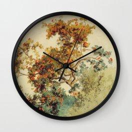 Hans Gude Painting -  Rogneb Rtre Vang 1853    Reproduction   Norwegian Art Wall Clock