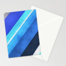 Parallel Blues Stationery Cards