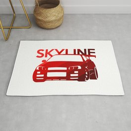 Nissan Skyline GT-R  - classic red - Rug