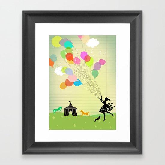 taking off Framed Art Print