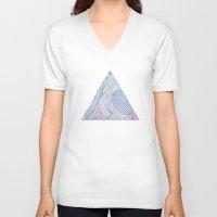wanderlust V-neck T-shirts featuring Wanderlust by maysgrafx