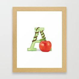 A is for Apple Framed Art Print