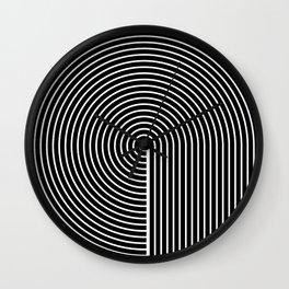Think. Black Line Circle Wall Clock