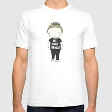Ni Una Menos LARGE Mens Fitted Tee White