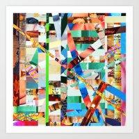 bianca green Art Prints featuring Bianca (stripes 22) by Wayne Edson Bryan