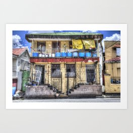Barbadian Home Art Print