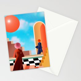Behind The Face Stationery Cards
