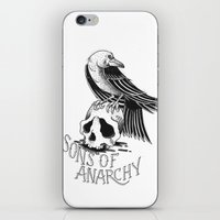 sons of anarchy iPhone & iPod Skins featuring Sons of Anarchy  by Christiano Mere