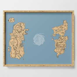 Map of Classic WoW - Vanilla Azeroth Serving Tray