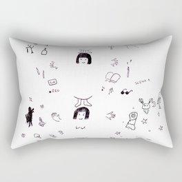 circle of my life - a 30-year old woman Rectangular Pillow