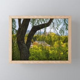 Beautiful garden at Tenryu-ji temple, Kyoto, Japan Framed Mini Art Print