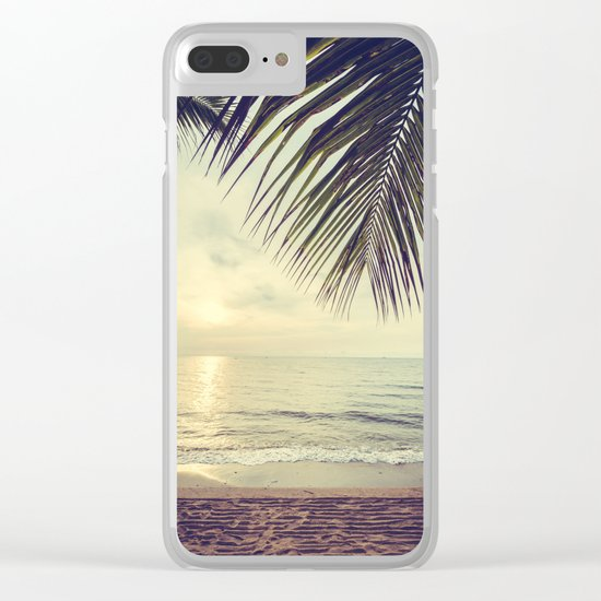 Vintage paradise Clear iPhone Case