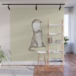 Sitting Otter Wall Mural