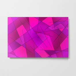 ABSTRACT LINES #1 (Purples, Violets, Fuchsias & Magentas) Metal Print