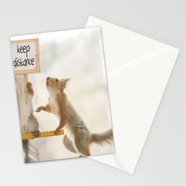 squirrels keeping distance Stationery Cards