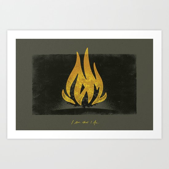 Moses and the Burning Bush (By Chaz Russo) Art Print