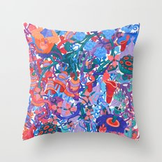 Flower Village Throw Pillow