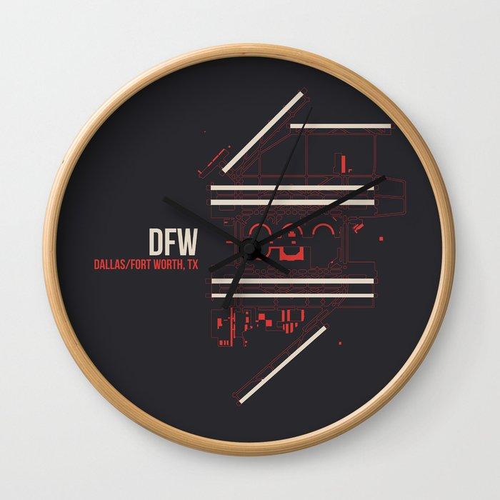 DFW Wall Clock
