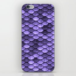 Mermaid Scales Periwinkle Ultra Violet iPhone Skin
