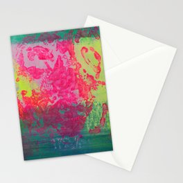 Neon Abstract 10 Stationery Cards