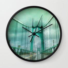 St John's Bridge Portland Oregon Wall Clock
