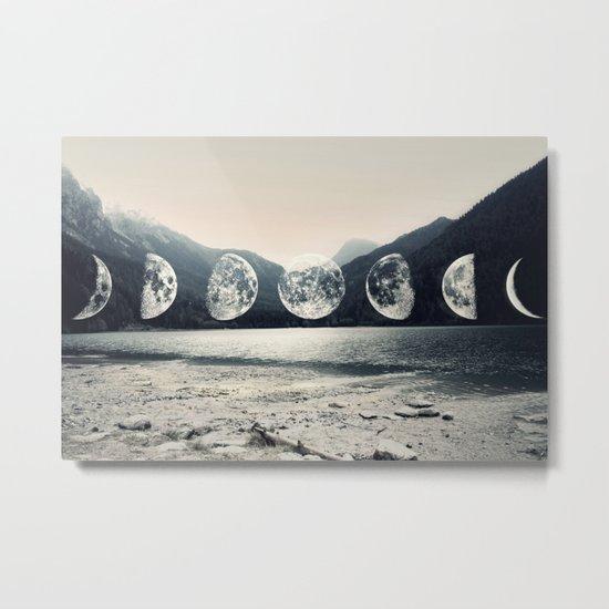 Moonlight Mountains Metal Print