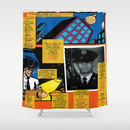 Bird of Steel Comix – 7 of 8 (Society 6 POP-ART COLLECTION SERIES) Shower Curtain