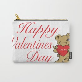 Happy Valentines Day Teddy Bear  Carry-All Pouch