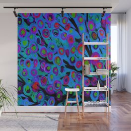 Blue Trees in The Wind Wall Mural