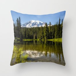 Mt Rainier from Reflection Lake, No. 3 Throw Pillow