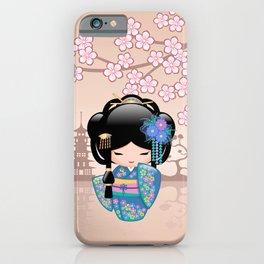 Japanese Keiko Kokeshi Doll iPhone Case