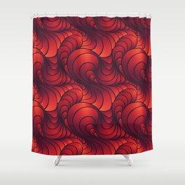 Swirl Sunset Shower Curtain