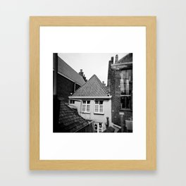 · My home...· Analogical Photography Black & White Framed Art Print