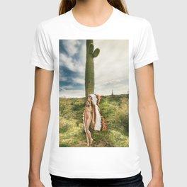 2542 Nude Cactus Girl ~ SurXposed ~ Nude Girl Naked in a Arizona Cactus Desert T-shirt