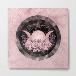 Triple Moon - Triple Goddess -Gentle Floral Metal Print