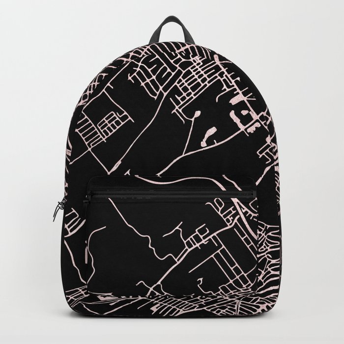 Wilkes-Barre Rose Gold and White Map Backpack
