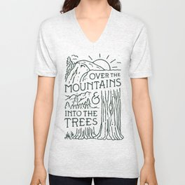 Over The Mountains Unisex V-Neck