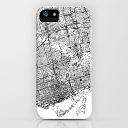 Toronto White Map iPhone Case