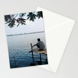 West Lake Fisherman I Stationery Cards